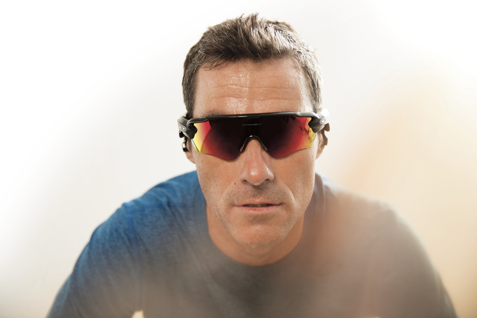 Triathlete Craig Alexander uses Oakley's Radar Pace smart eyewear. Radar Pace is smart eyewear featuring a real-time voice-activated coaching system powered by Intel® Real Speech. Radar Pace will be available in stores on Oct. 1, 2016. (Source: Oakley)