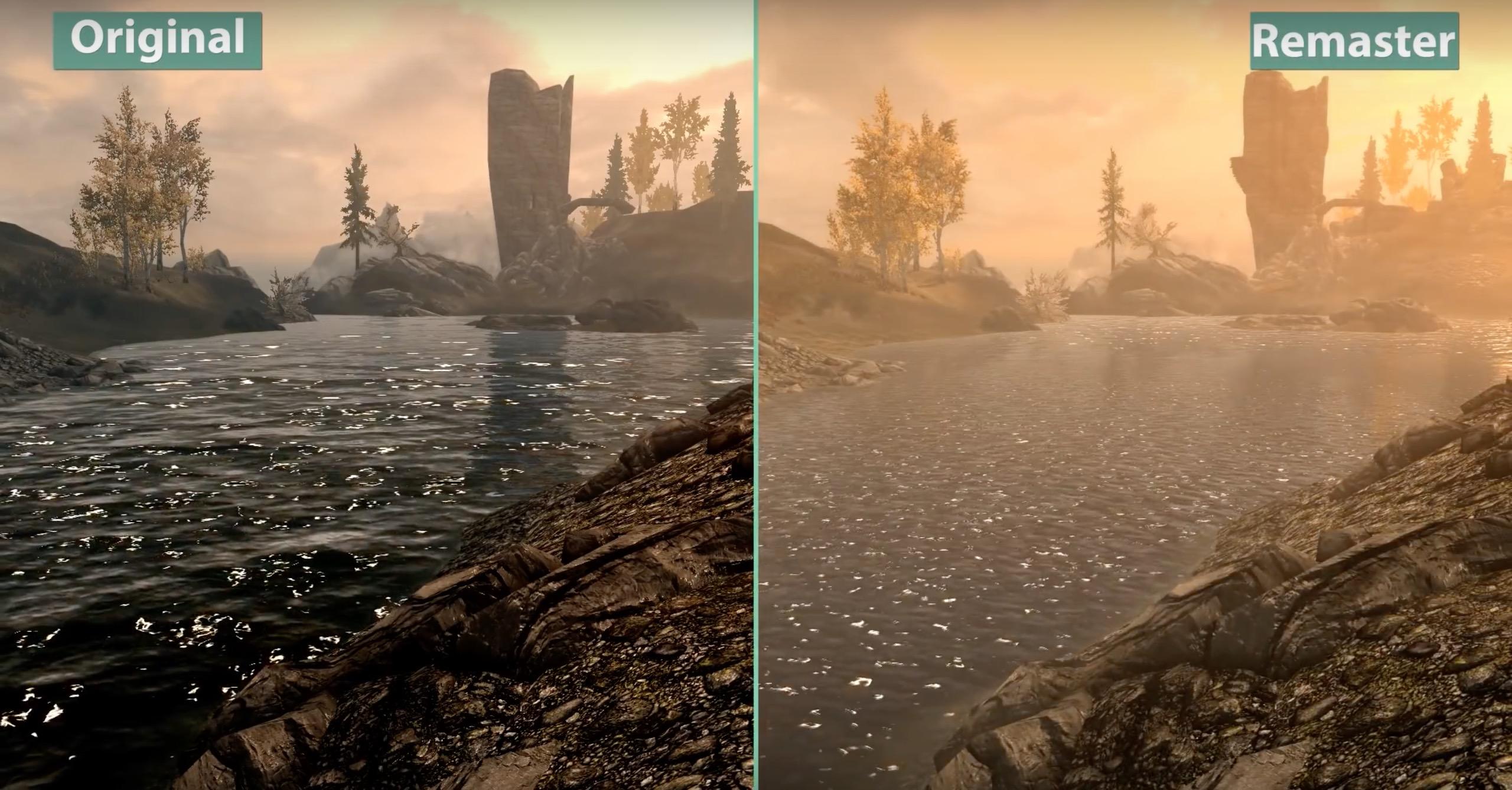 Skyrim Special Edition - porównanie grafiki remastera i
