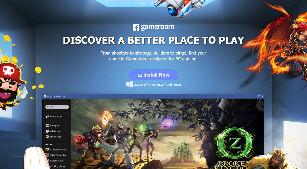 Facebook właśnie pokazał Steama dla niedzielnych graczy. Oto Facebook Gameroom