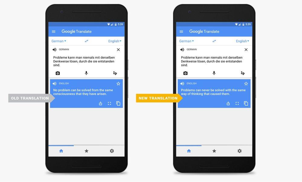 Google Translate zaciera bariery językowe.