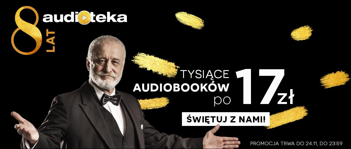 Co za promocja! Z okazji swoich 8 urodzin Audioteka rozdaje audiobooki za pół darmo