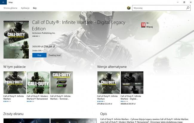 Infinite Warfare nie działa multiplayer
