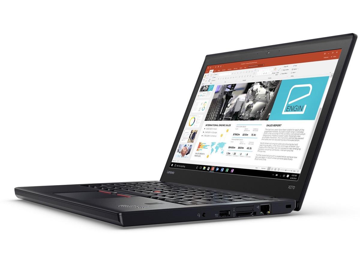 Lenovo Thinkpad X270 - nawet 21,5 godziny na jednym ładowaniu.