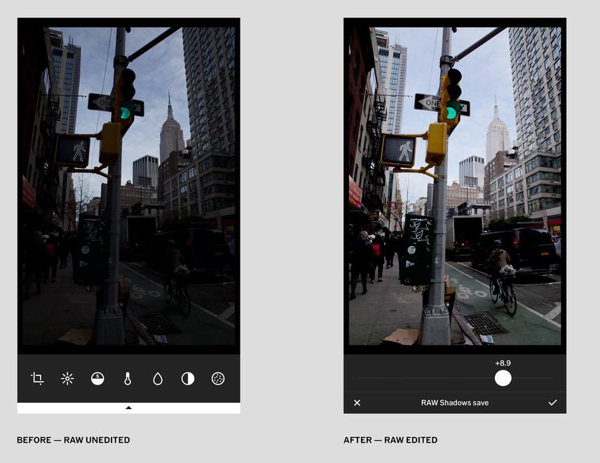 VSCOz obsługą zdjęć RAW na iOS 10