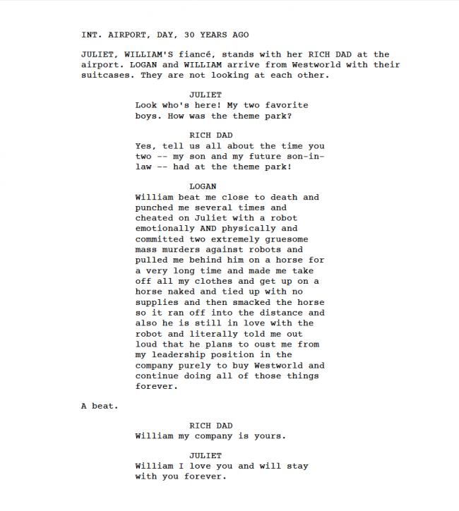 Westworld - deleted scene William