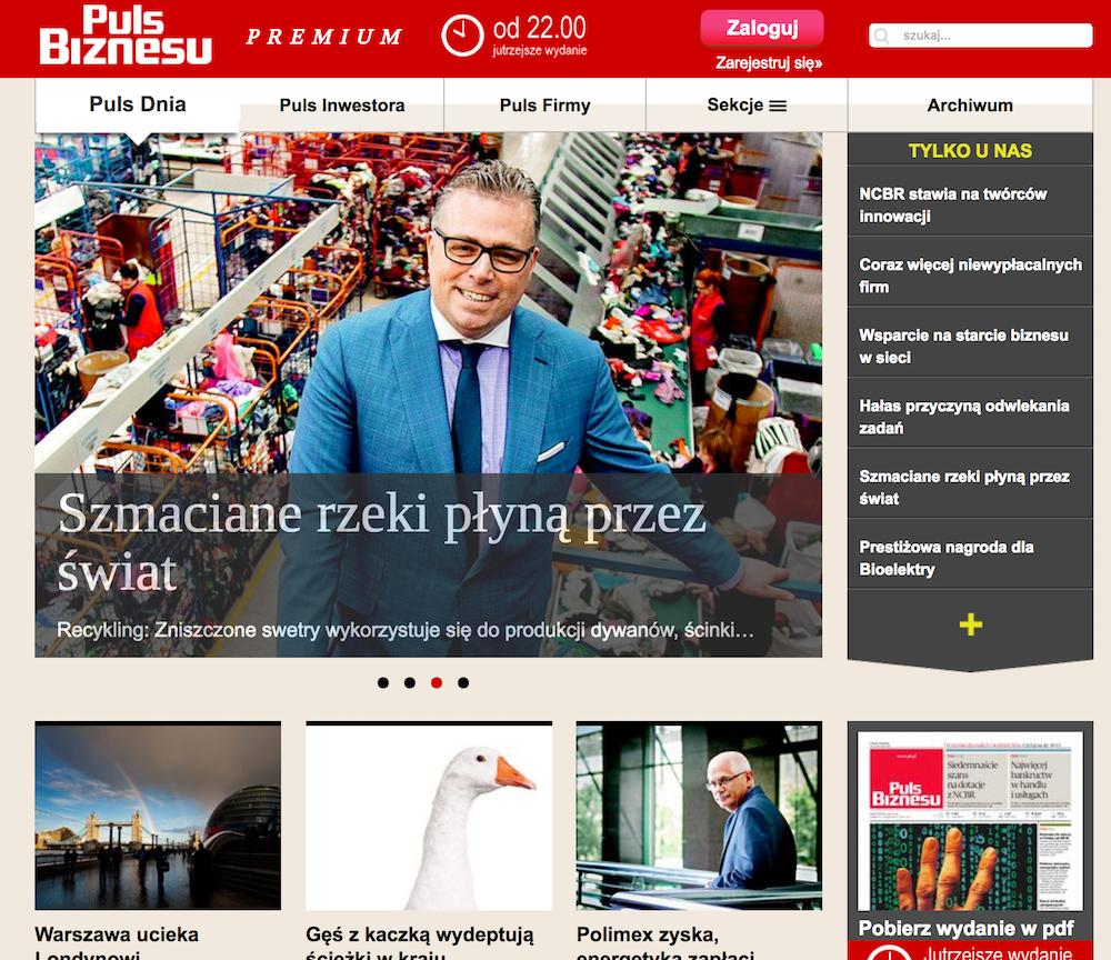 A tak wygląda dziś pulsbiznesu.pl