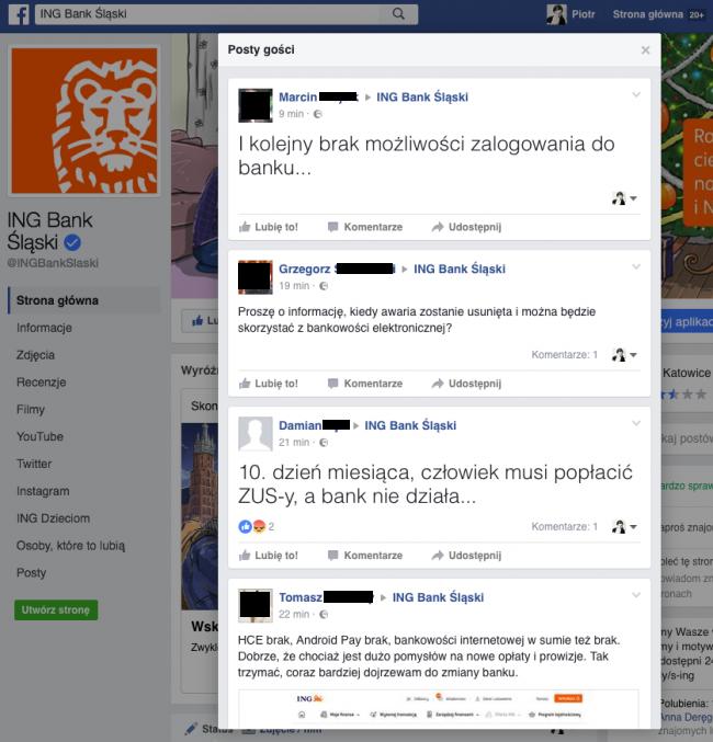 Awaria ING Bank Śląski - ING nie działa