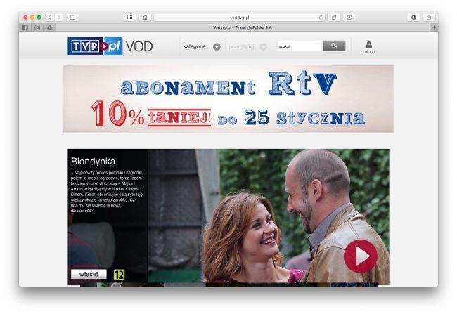Co zamiast Kinoman.tv? VOD.tvp.pl