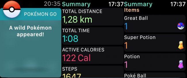 Pokemon GO na Apple Watch