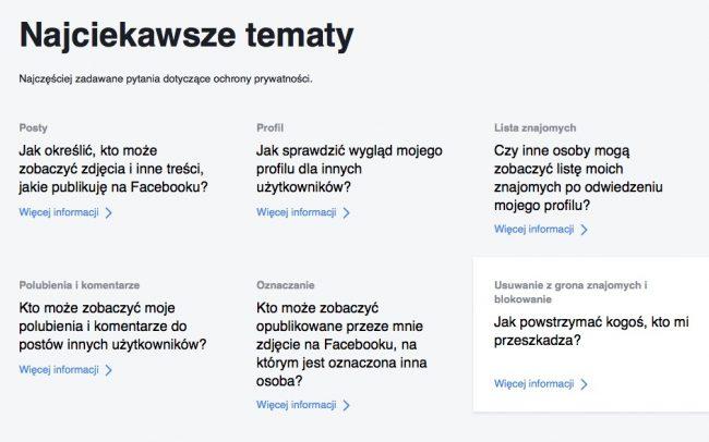 prywatnosc na facebooku