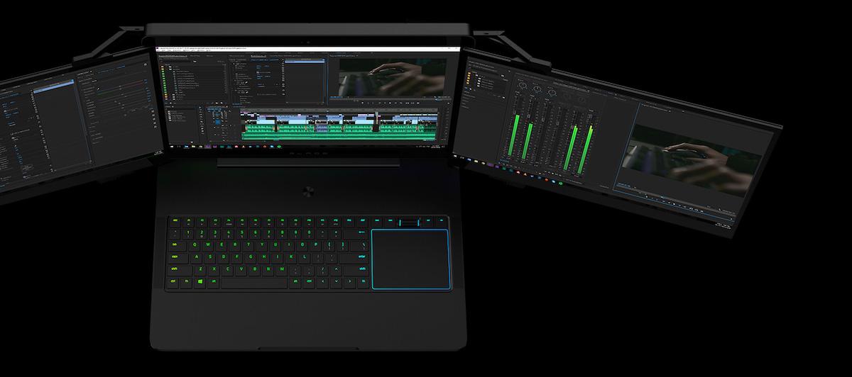 Nie pytaj, po co Razer włożył 3 ekrany 4K do laptopa. Zobacz, jak ko(s)micznie to wygląda