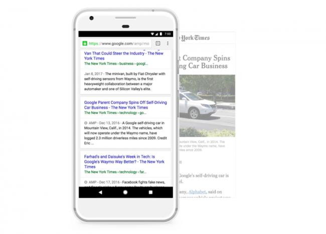 Google AMP - nowa prezentacja linków do stron