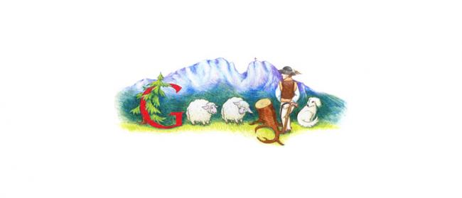 Praca Martyny Króliszewskiej, zwyciężczyni pierwszego polskiego konkursu Doodle 4 Google (2011)