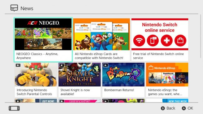Nintendo Switch news