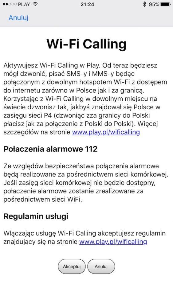 iOS 10.3 wprowadza VoWiFi, czyli Wi-Fi Calling w Play i Orange na telefony iPhone