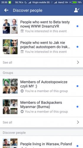 facebook podróże