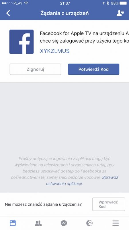 facebook video apple tv samsung smart tv