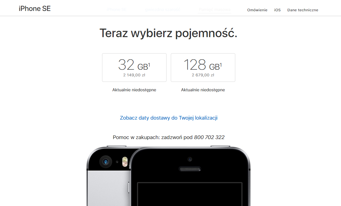 iphone-se-pojemnosc