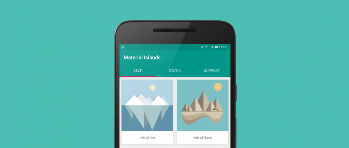 Genialna aplikacja ze ślicznymi tapetami Material Design. Tylko dla Androida
