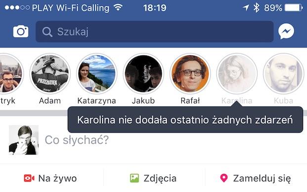 facebook relacje snapchat