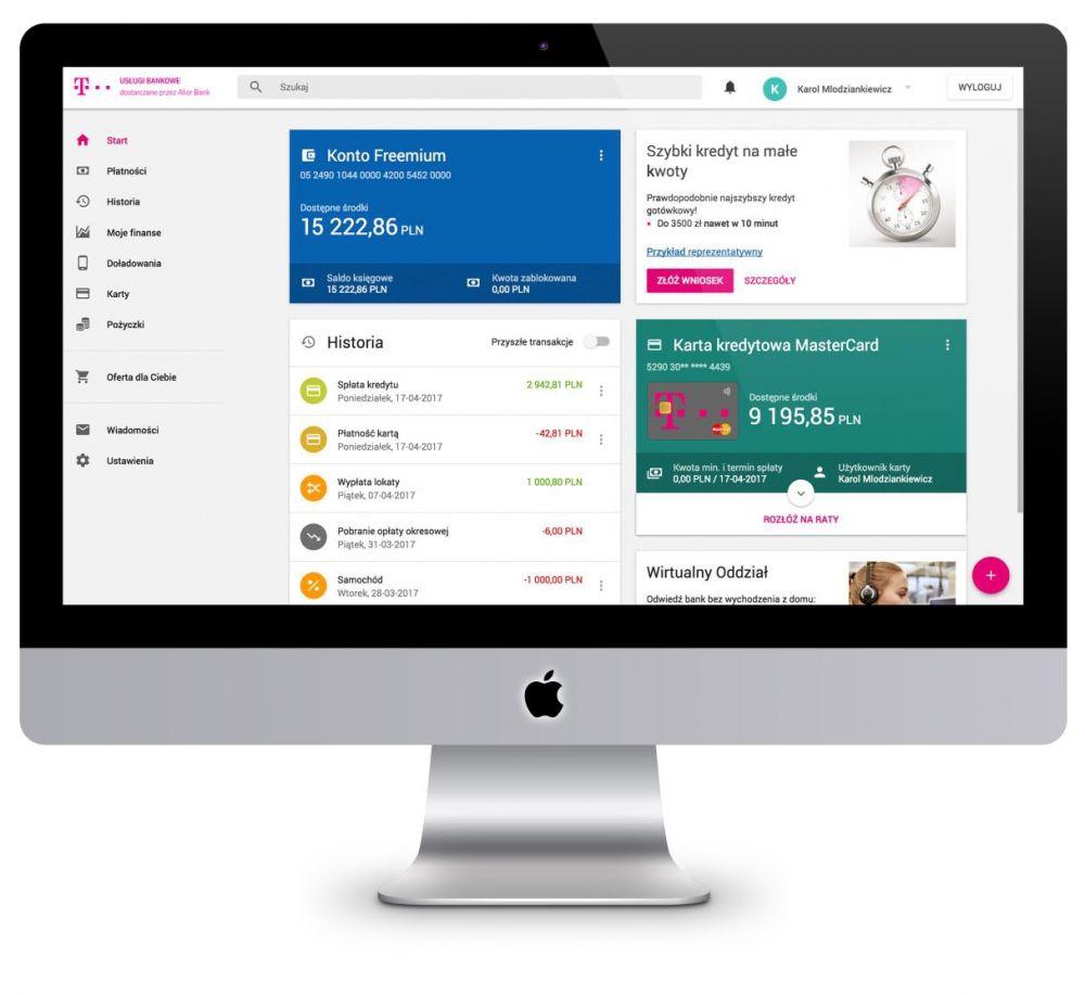 Nowa odsłona T-Mobile Usługi Bankowe w wersji web