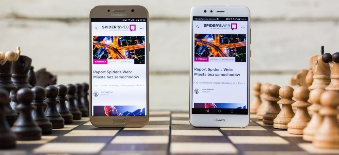 Starcie tytanów klasy średniej. Huawei P10 Lite kontra Samsung Galaxy A5 2017 – pojedynek Spider's Web