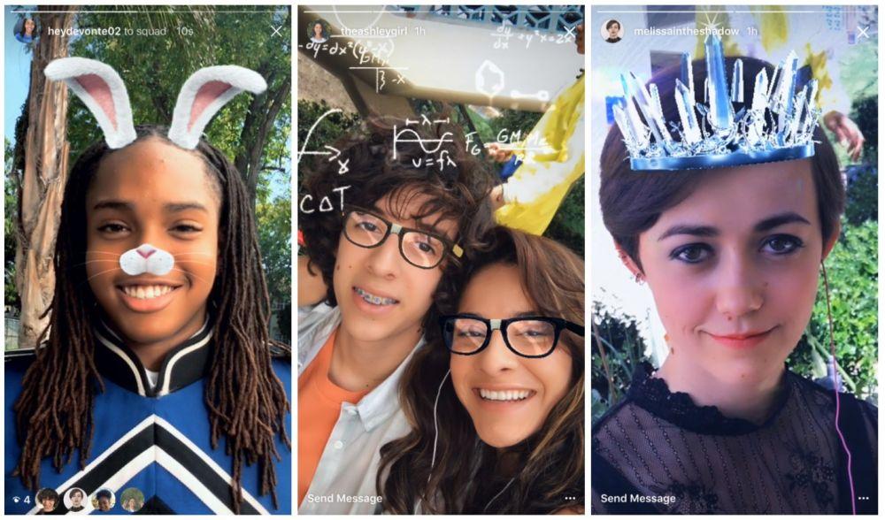 Instagram - filtry na twarz jak w Snapchacie