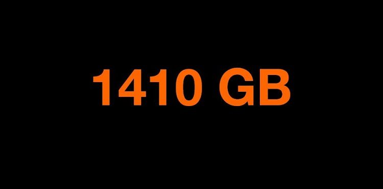 1410 GB transferu w Orange Free na kartę.