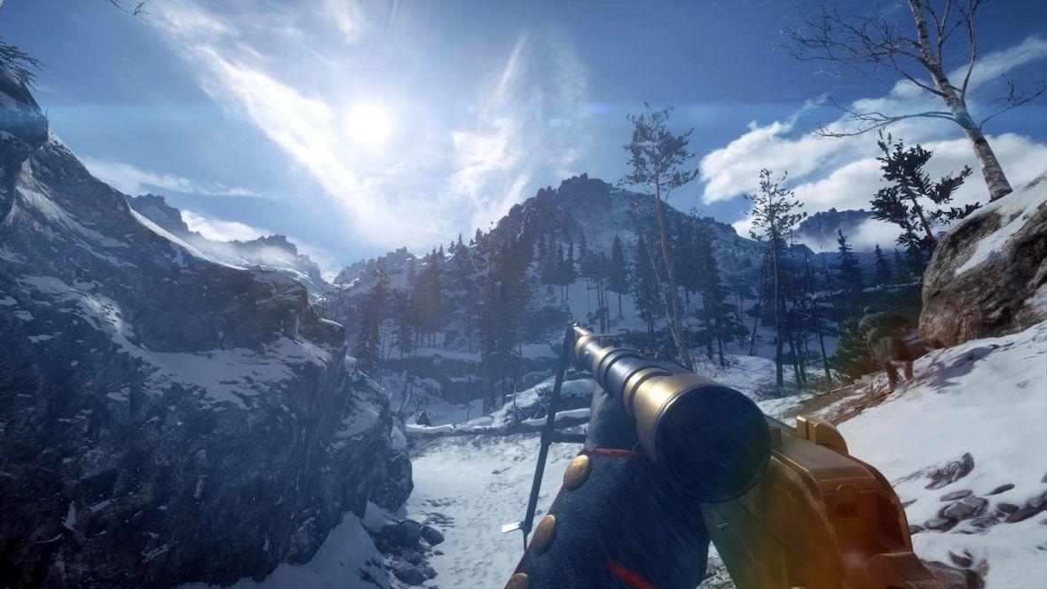 Oto Battlefield 1 na nowej mapie w Polsce. Przełęcz Łupkowska to śnieżny raj dla snajperów