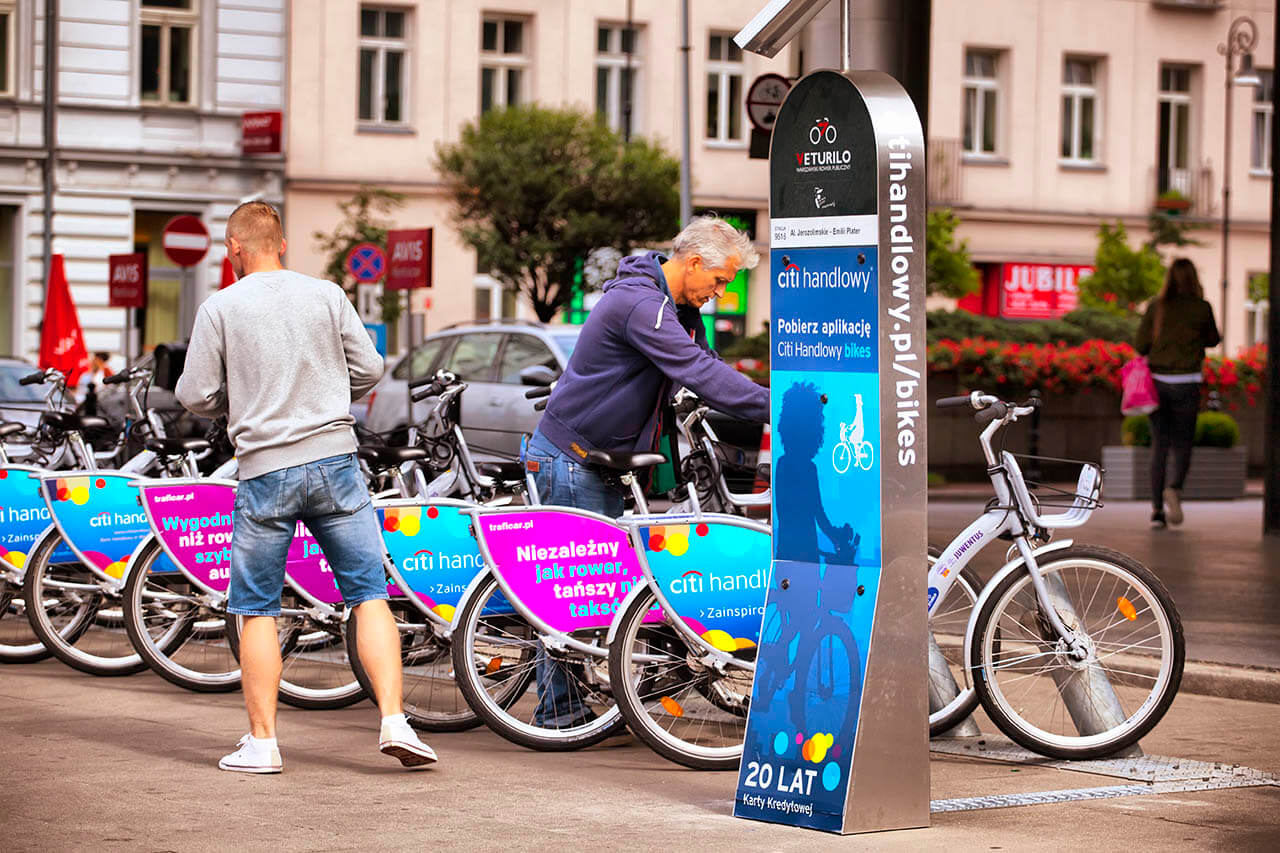 Great news on Google Maps. The application will show city bike stations in Warsaw
