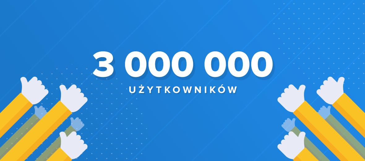 Trzy miliony użytkowników na Spider's Web!