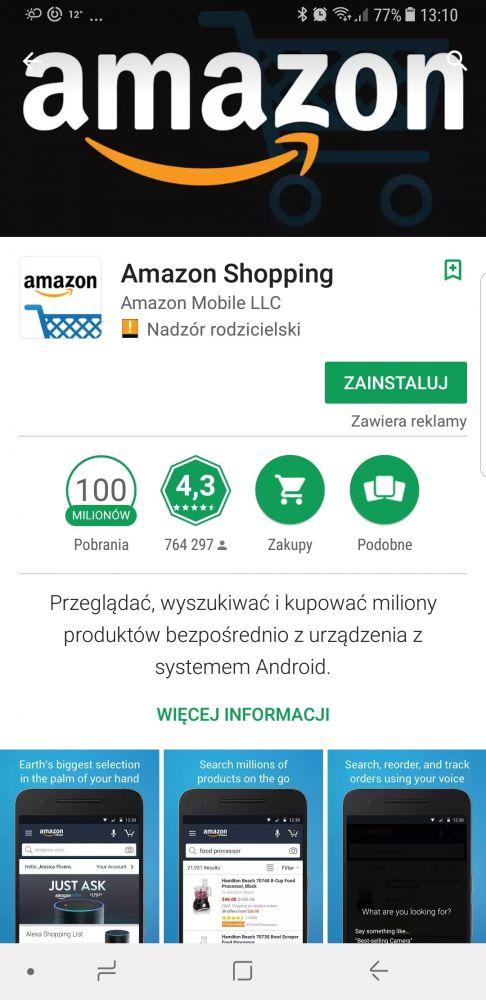 Amazon aplikacja po polsku