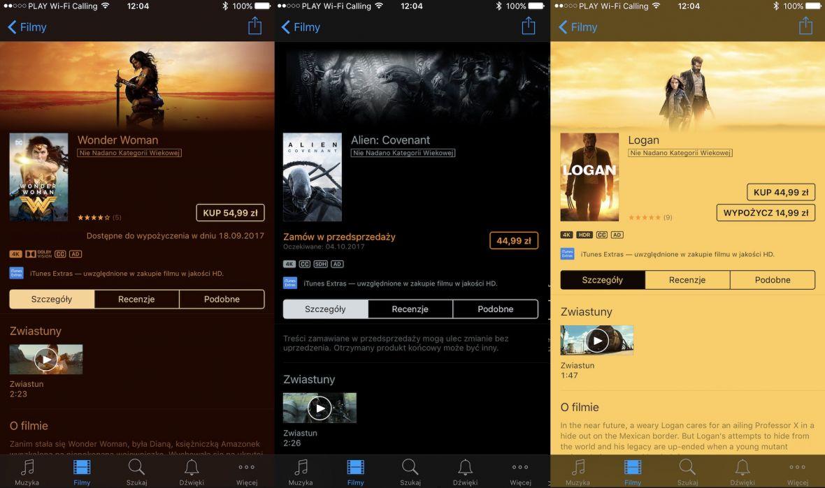 Pierwsze filmy w rozdzielczości 4K już dostępne w polskim iTunes. Ceny? Bardzo rozsądne