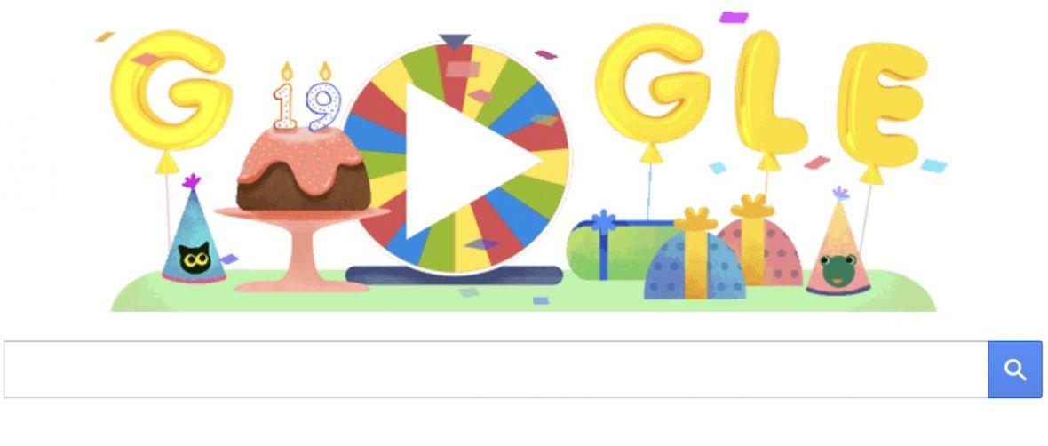 19 atrakcji na 19. urodziny. Google przygotował coś specjalnego dla użytkowników
