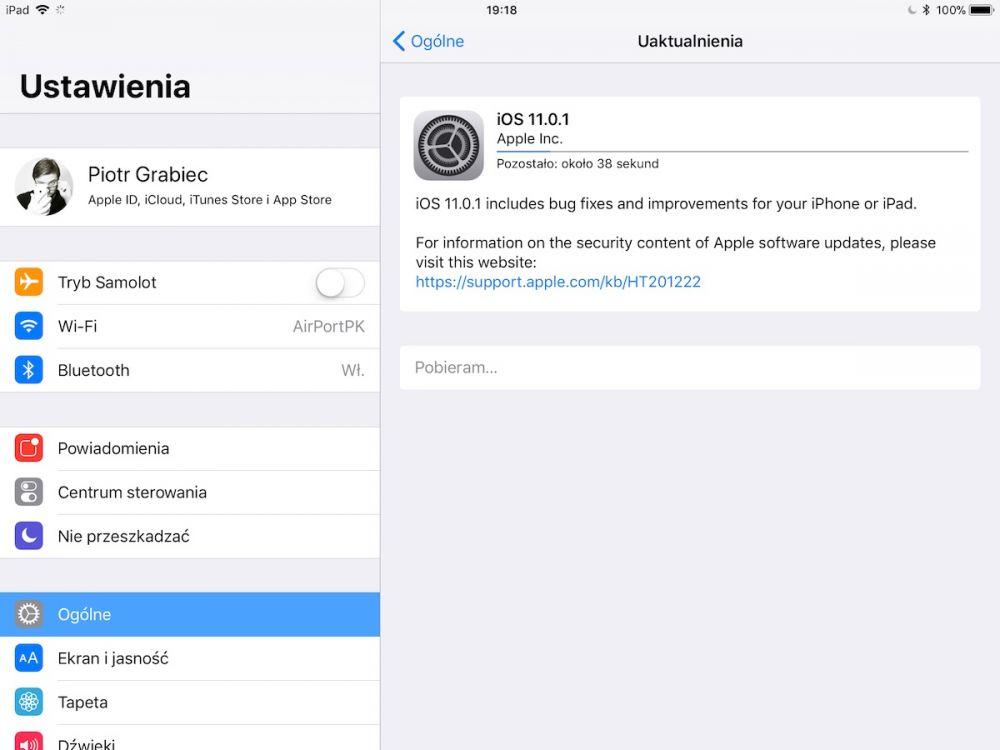 iOS 11.0.1 aktualizacja