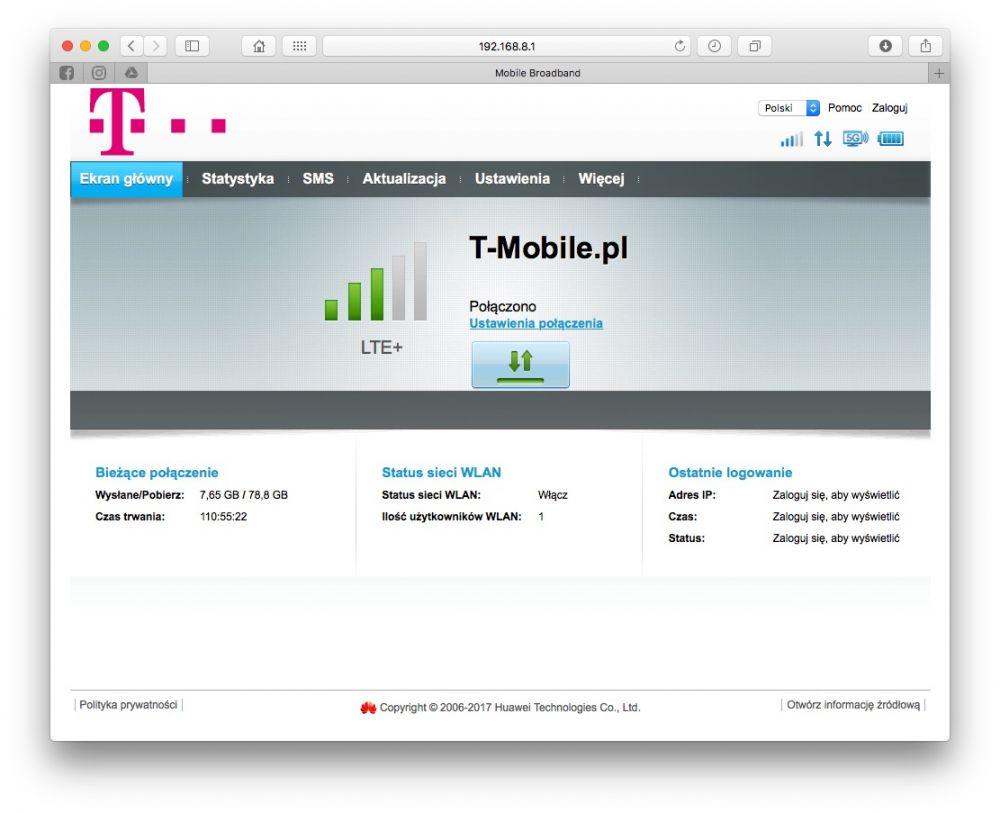 internet domowy t-mobile transfery