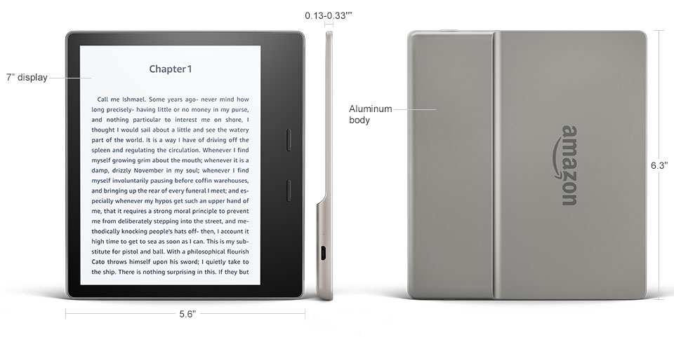 amazon kindle oasis 2 czytnik e-booków