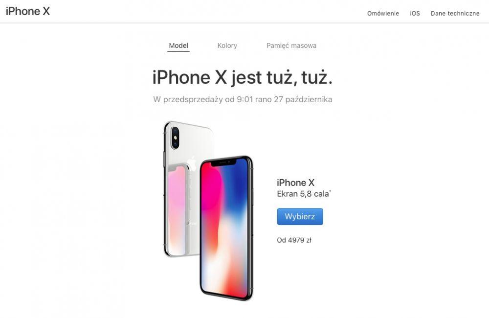 iphone x przedsprzedaż w polsce