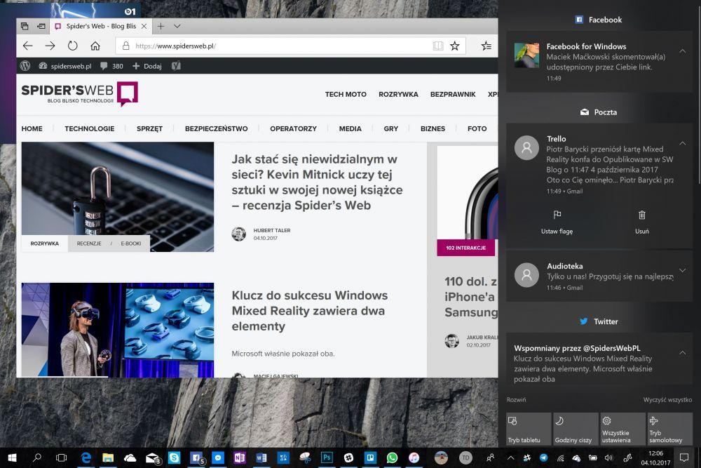 Jesienna aktualizacja Windows 10 Creators Update