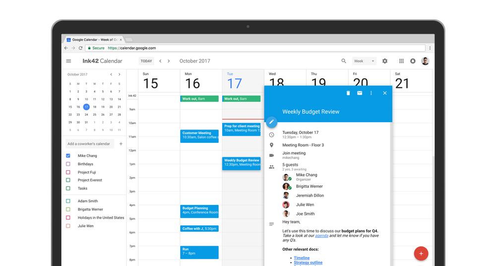 nowy kalendarz google material design