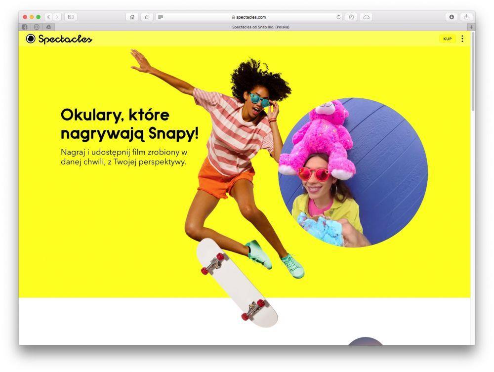 snapchat spectacles gdzie kupić cena w Polsce