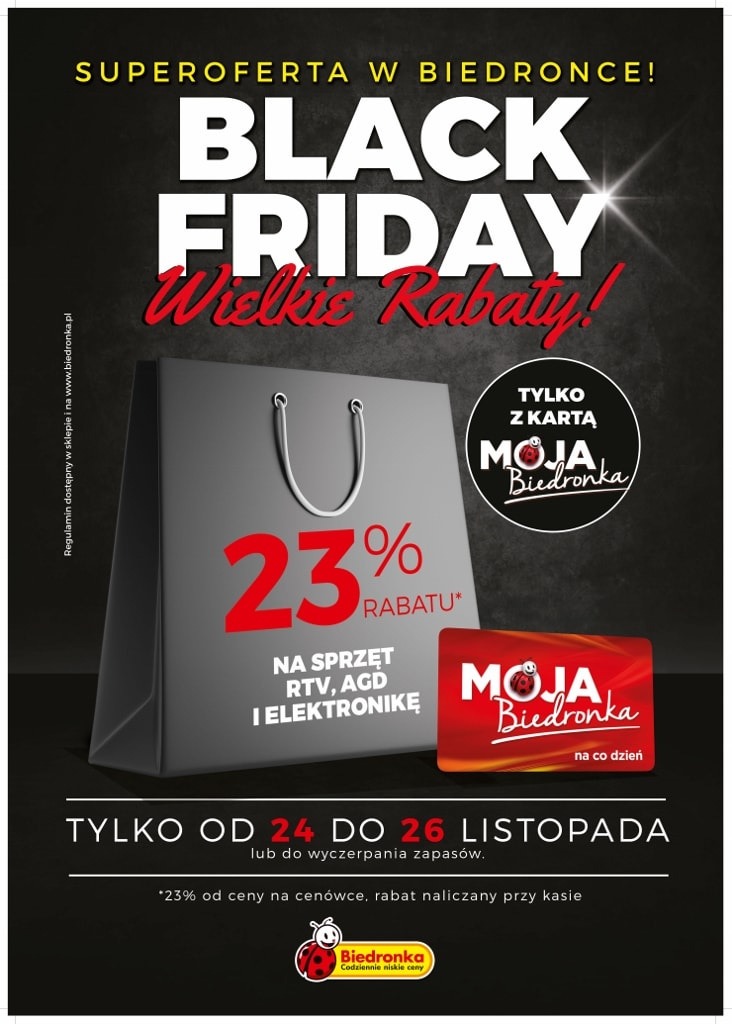 Black Friday 2017 w Biedronce - gazetka