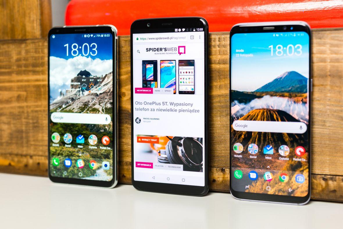 Samsungi Galaxy S8 i Note 8 przegrały z OnePlusem 5T