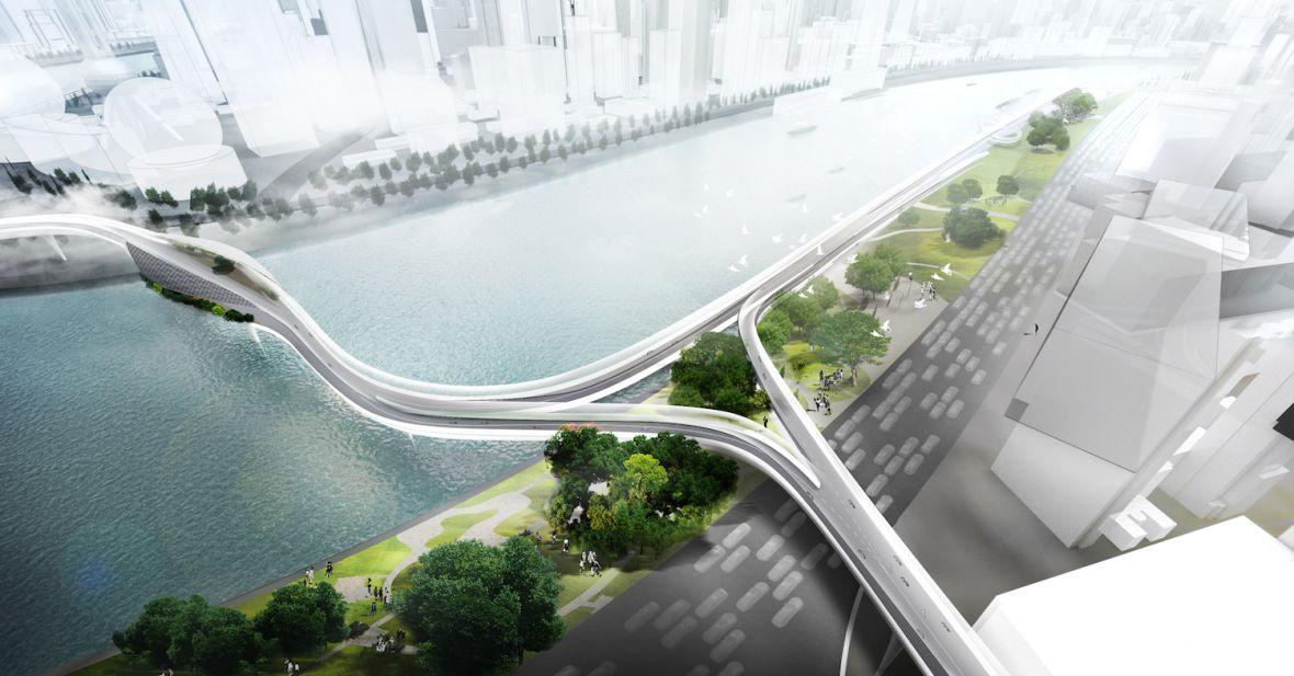 Gdy BMW bierze się za robienie ścieżki rowerowej, powstaje coś takiego – podniebny tunel