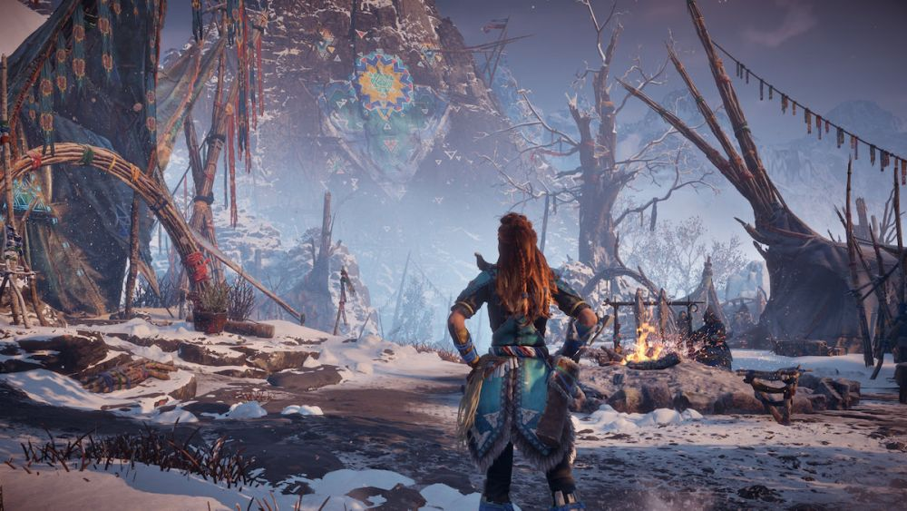 horizon zero dawn the frozen wilds sony ps4 pgw 2017