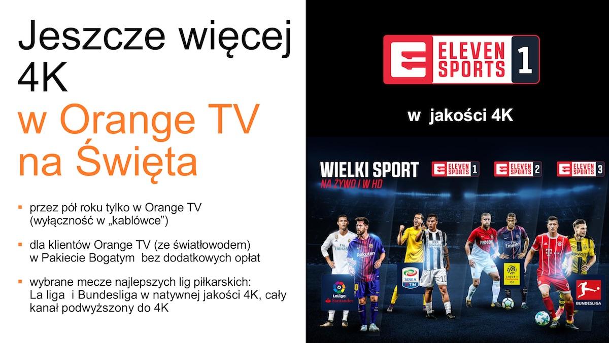 nowa oferta orange tv czyli netflix i eleven sports w 4k. Black Bedroom Furniture Sets. Home Design Ideas
