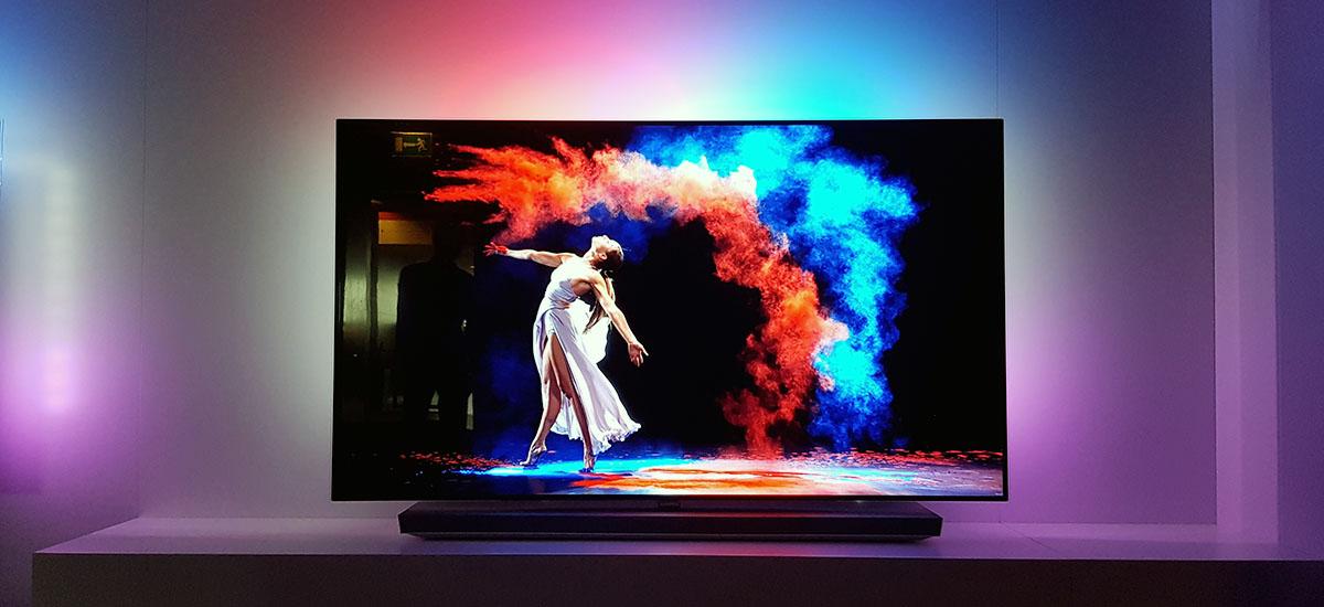 nowoczesna telewizja 4k hdr Philips OLED 973