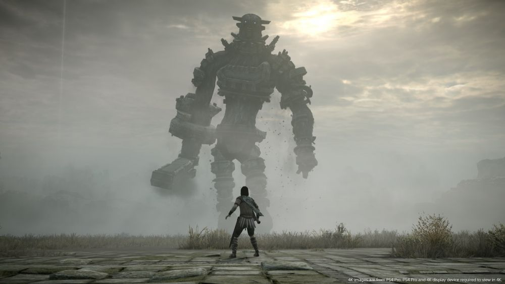 shadow of colossus sony ps4 pgw 2017