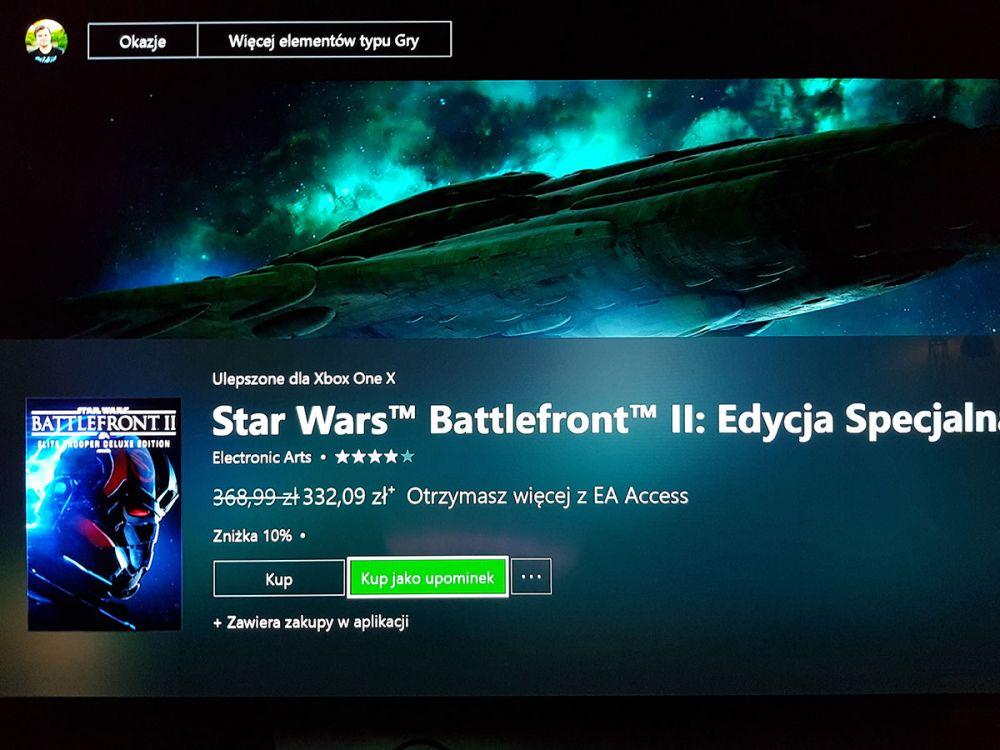 Xbox One gra jako upominek