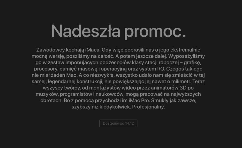 iMac Pro data premiery